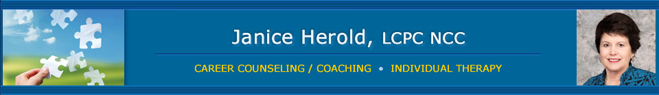 Janice Herold, LCPC NCC - Career Counseling and Coaching, Individual Therapy